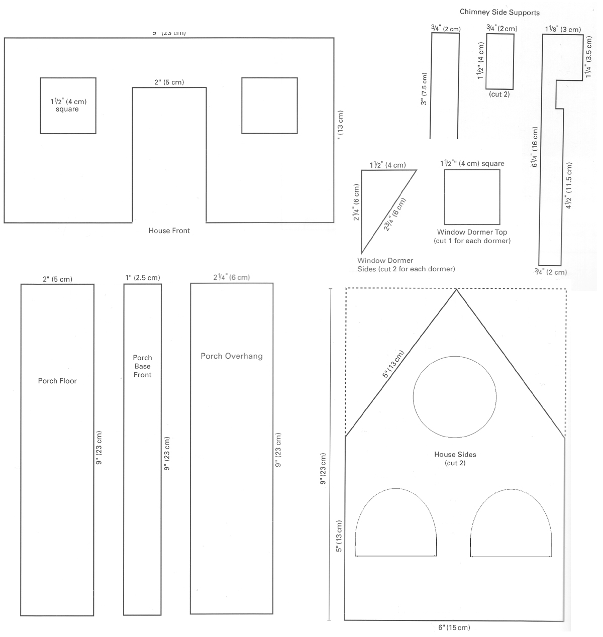 Model house template for House pattern
